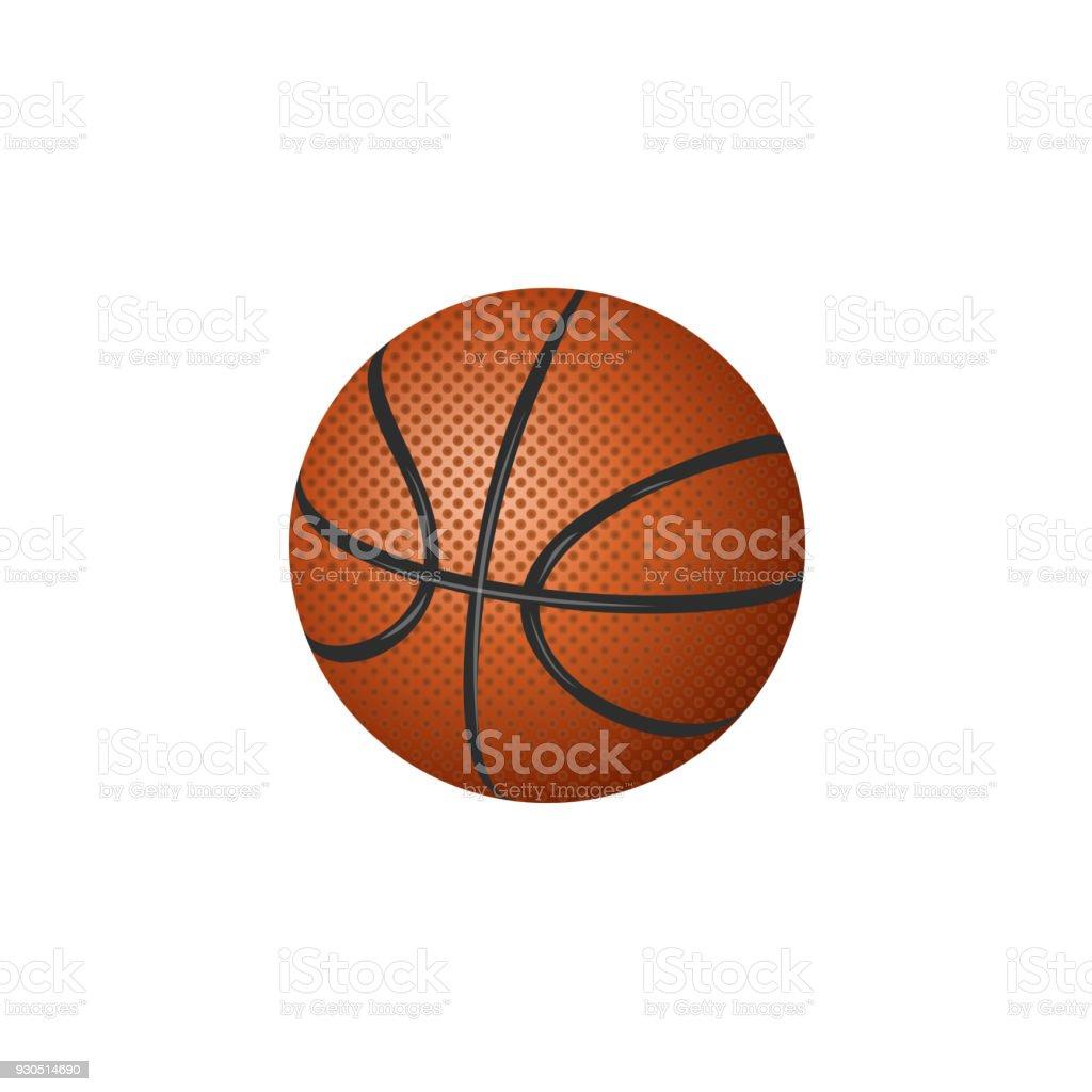 60529e0143acd1 Vektorflache Cartoonbasketballball Isoliert Stock Vektor Art und ...
