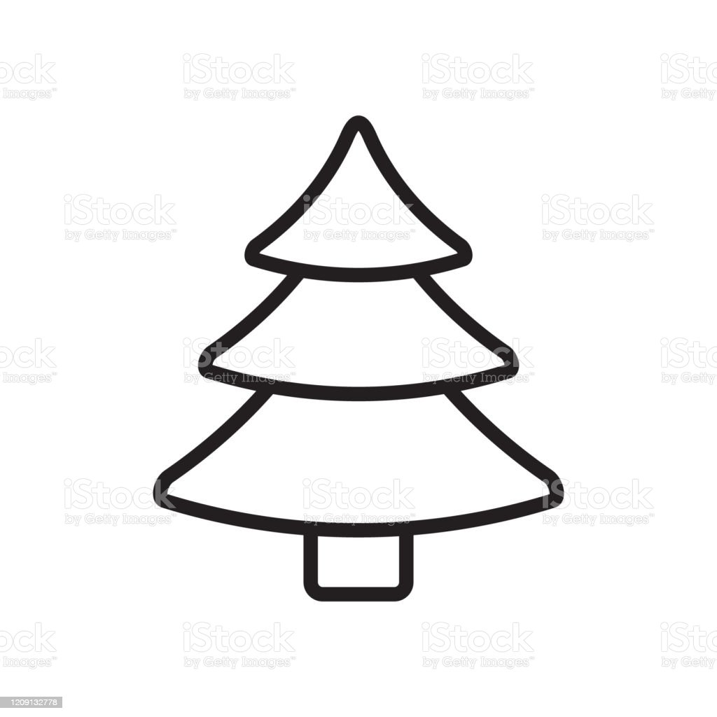 Vector Flat Cartoon Outline Christmas Tree Stock Illustration Download Image Now Istock You can now start adding some shadows on. vector flat cartoon outline christmas tree stock illustration download image now istock