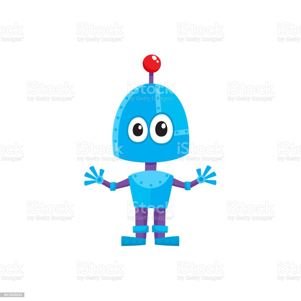 vector flat cartoon small funny male boy robot stock vector art rh istockphoto com robot vector technical drawing robot vector art