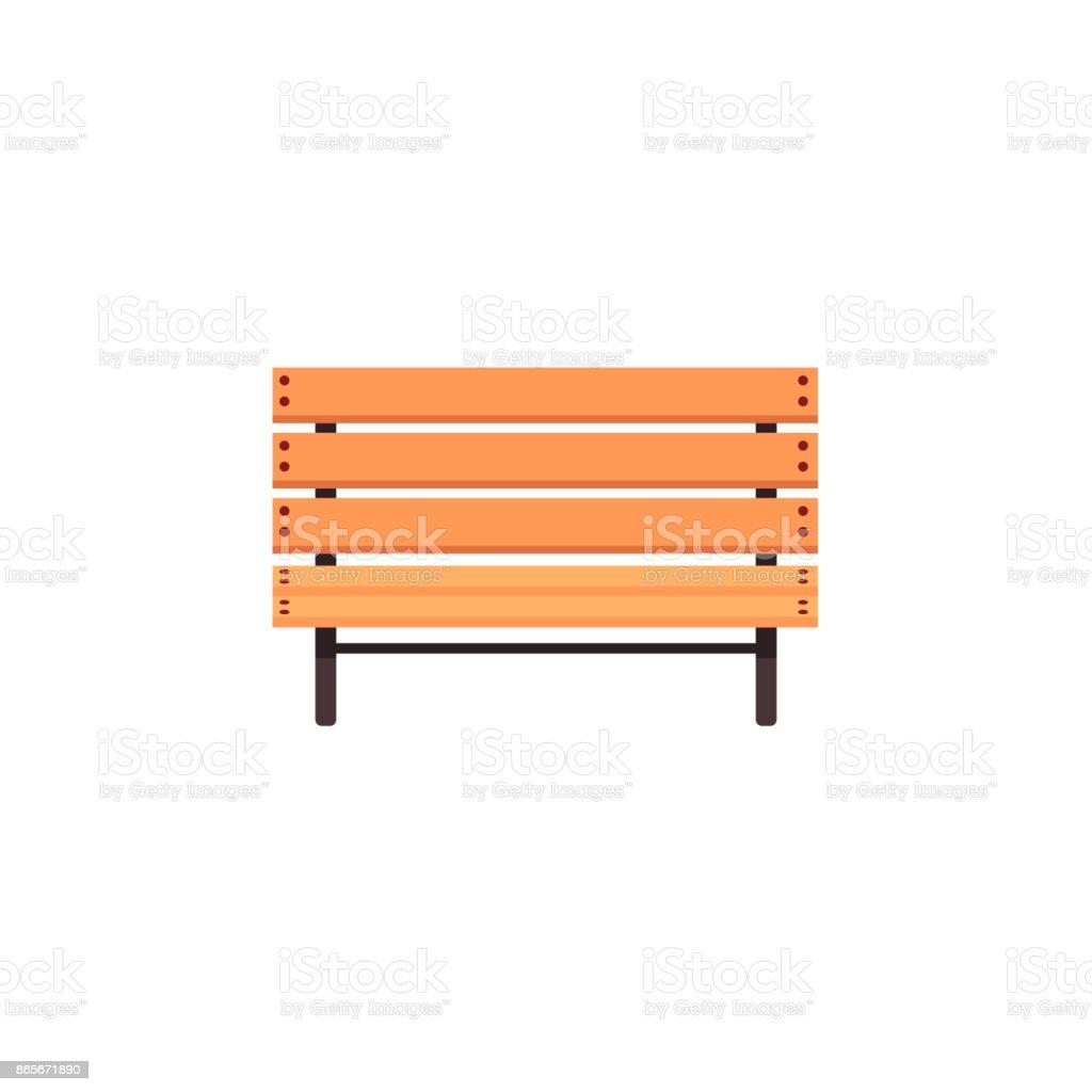 vector flat cartoon wooden bench isolated vector art illustration