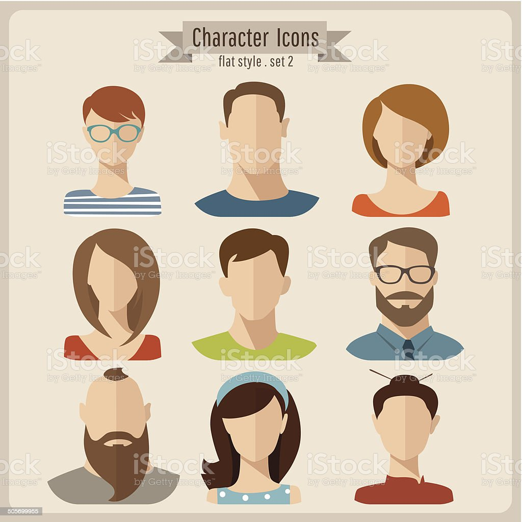 Character Design On Illustrator : Vector flat characters stock art more images of