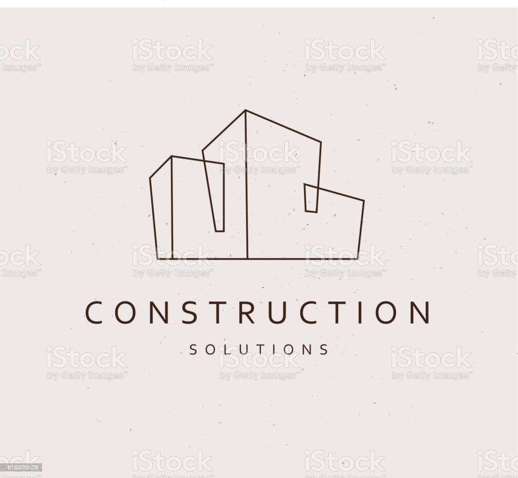 Empresa de construcción plana del vector ilustración de empresa de construcción plana del vector y más vectores libres de derechos de abstracto libre de derechos