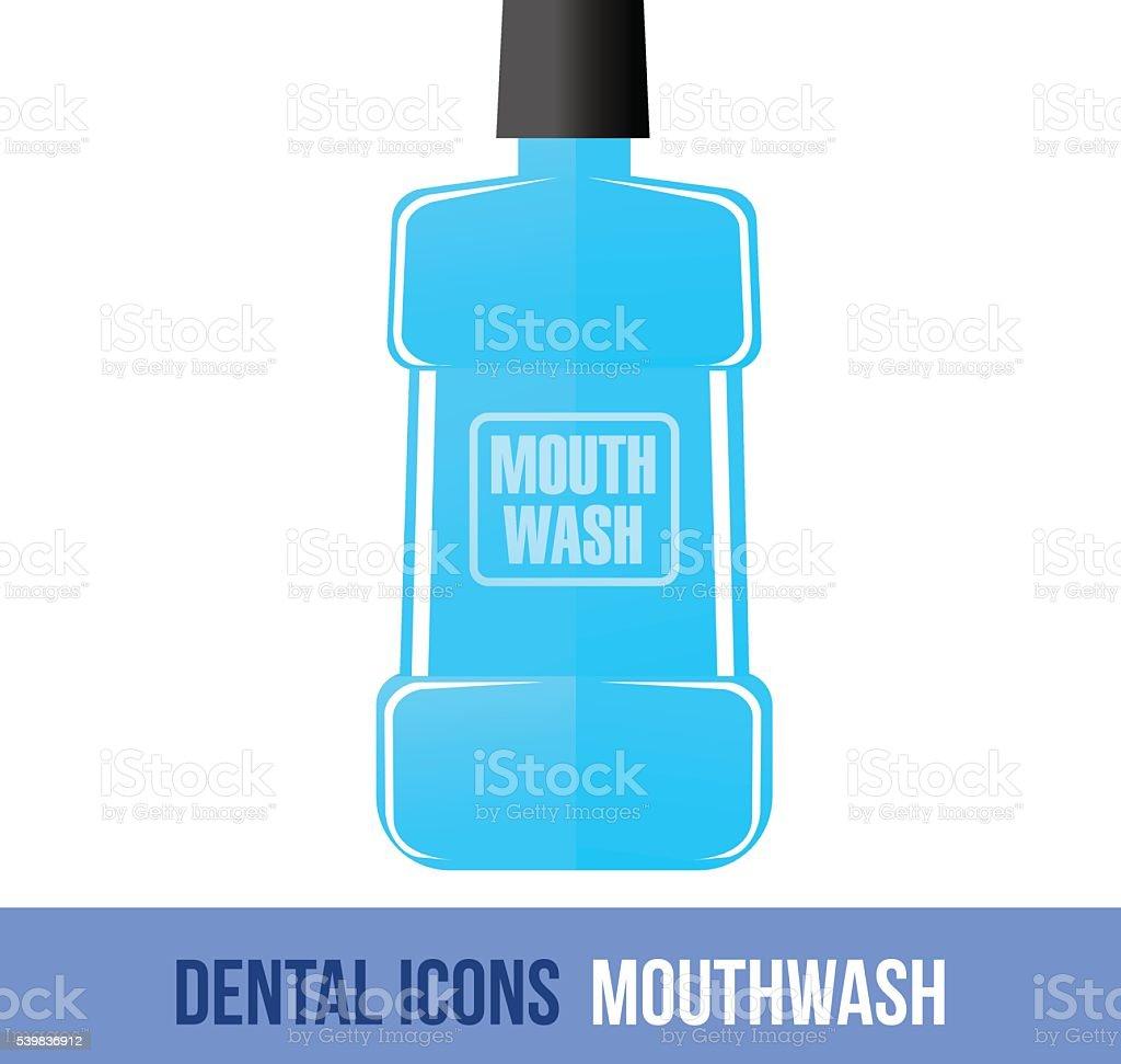 Vector flat dental icon. Mouthwash vector art illustration