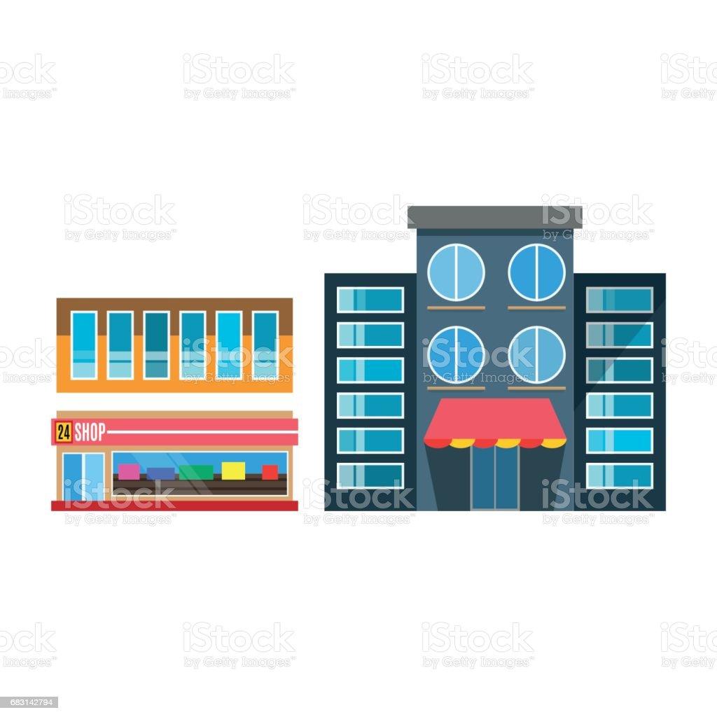 Vector Flat Design Restaurant Shop Facade Icon Store City Showcase Street Exterior Window Architecture Stock Illustration Download Image Now Istock