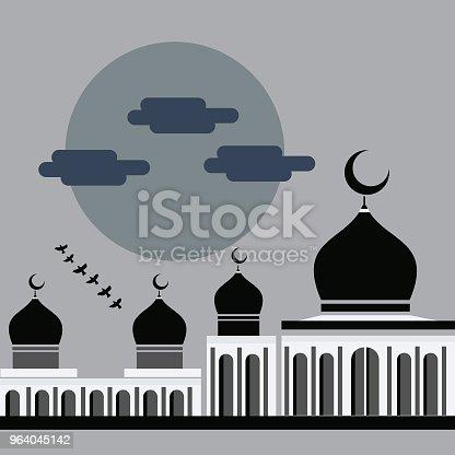 istock vector flat design simple mosque 964045142