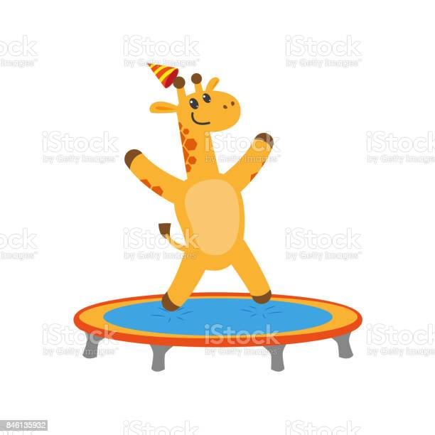 Vector flat giraffe jumping on trampoline vector id846135932?b=1&k=6&m=846135932&s=612x612&h=efbbu0blf0ekzp3lcaw k xsepzzfxmd9ztobepanna=