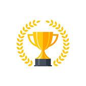 istock Vector flat golden trophy 1176397624