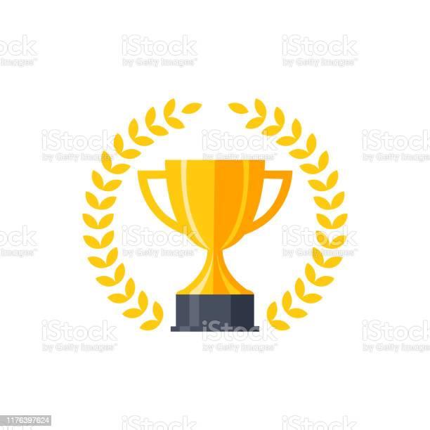 Vetores de Troféu Dourado Liso Do Vetor e mais imagens de Amarelo
