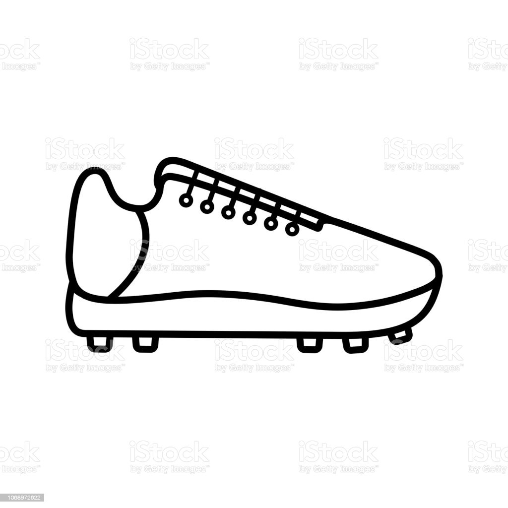 Fußball Mit Stiefel flacher Vektor Illustration Vektor