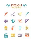 Vector Flat Icon Set - Design