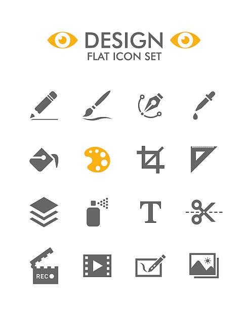 illustrations, cliparts, dessins animés et icônes de vector plate ensemble d'icônes-décoration - galerie d'art
