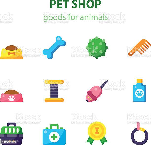 Vector flat icon set of pet shop vector id485567816?b=1&k=6&m=485567816&s=612x612&h=otav0n9yxfycudj33ask0n6xcifidthzrclzumvgufm=