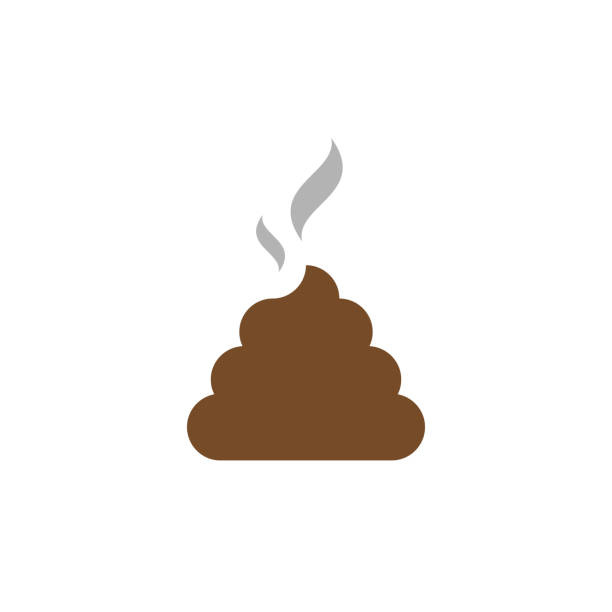 Vector Flat Icon Shit. Bunch of Shit with Smoke. Brown Shit Vector Flat Icon Shit. Bunch of Shit with Smoke. Brown Shit feces stock illustrations