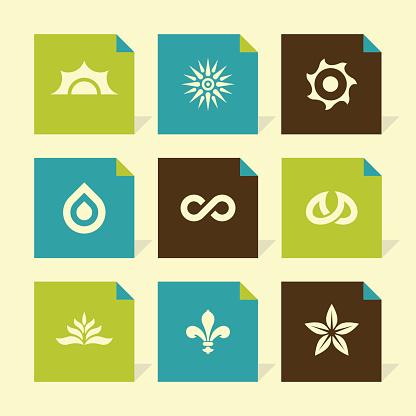 Vector Flat Icons Set - Nature Symbols