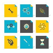 Vector Flat Icons Set - Science