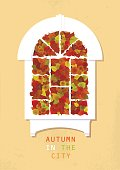 Vector flat  illustration about autumn and gardening.