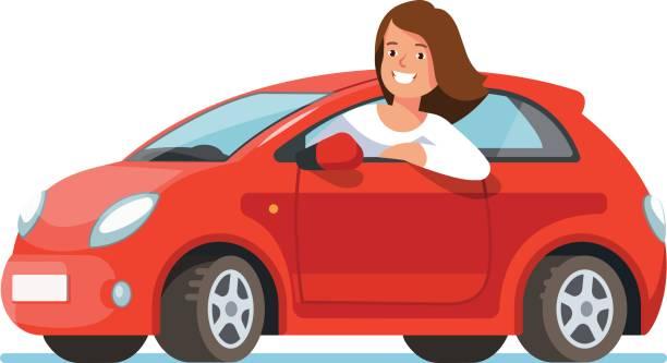 3 338 Woman Driving Car Illustrations Royalty Free Vector Graphics Clip Art Istock
