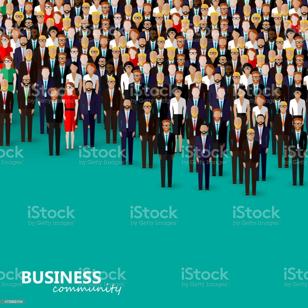 vector plano ilustración de negocios o de la política comunitaria - ilustración de arte vectorial