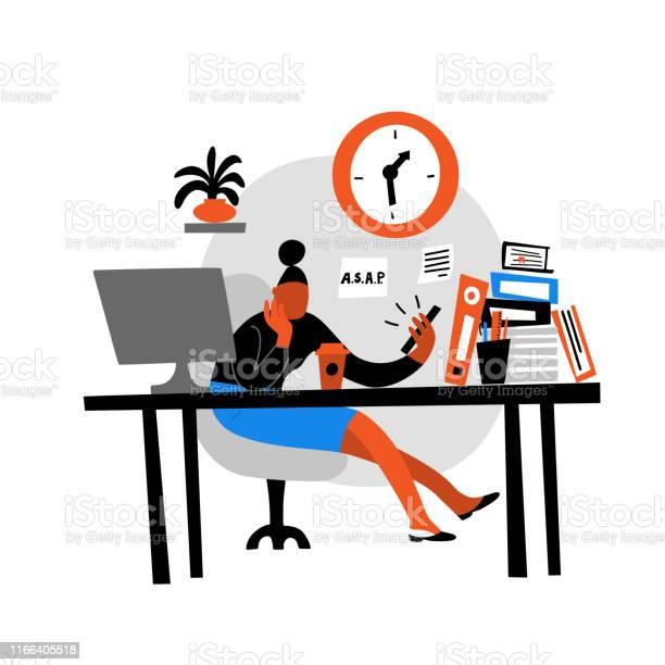 Vector flat illustration of women sitting in office and watching vector id1166405518?b=1&k=6&m=1166405518&s=612x612&h=q1bikiezmlbemh tgepm8lkqliq0ibti8ibmejjwrua=