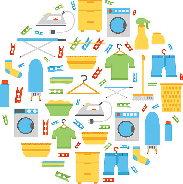 Royalty Free Laundry Room Clip Art, Vector Images ...