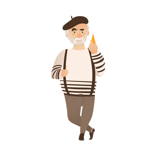 Best French Man Beret Illustrations, Royalty-Free Vector ...