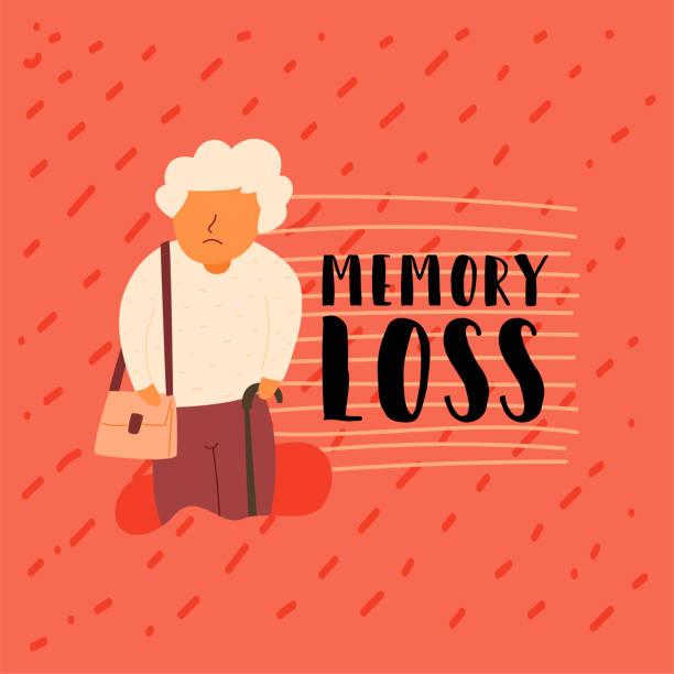 Vector Flachspeicher Bannererkrankungen älteren Menschen – Vektorgrafik