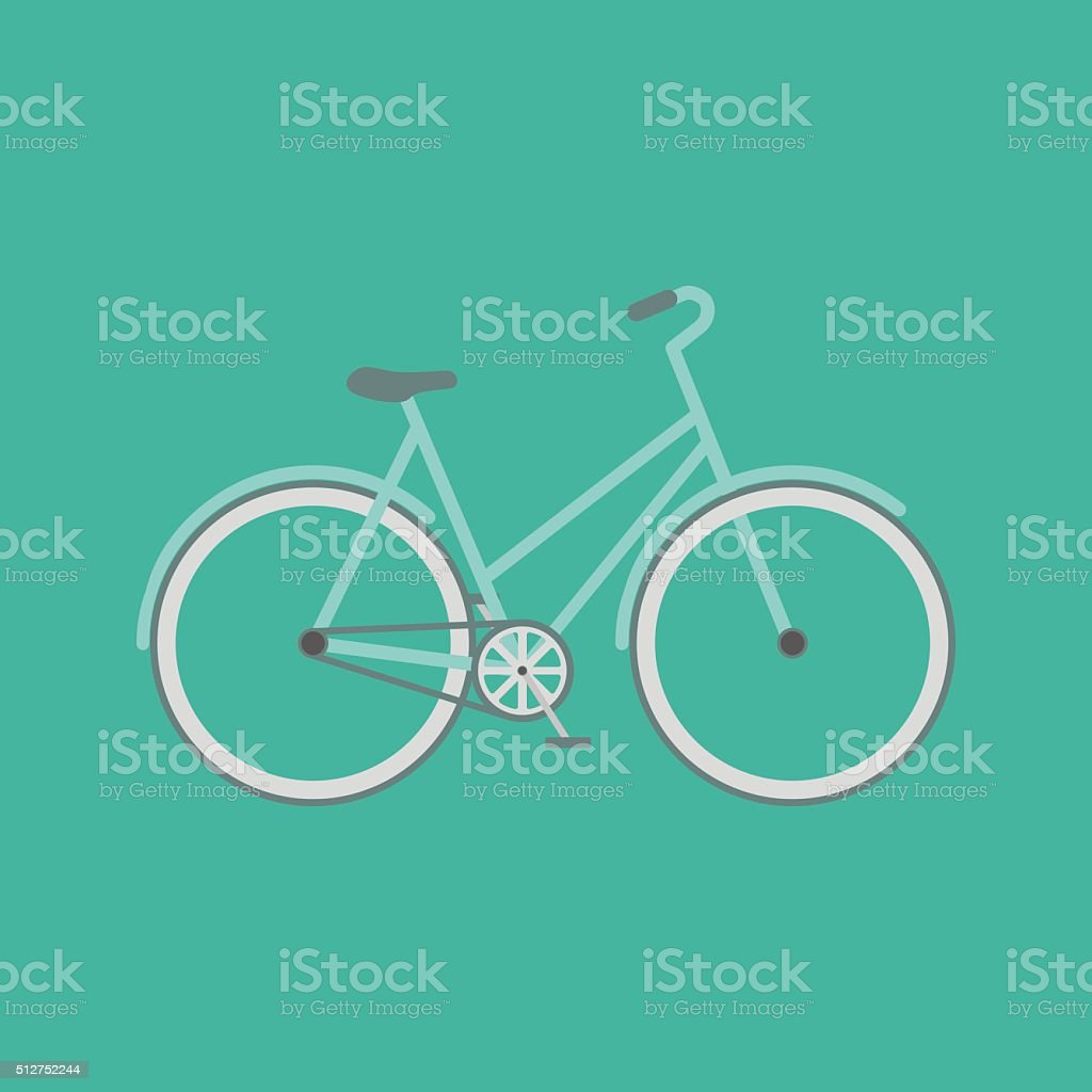 Vector flat modern bicycle. vector art illustration