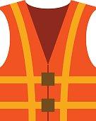 Vector flat orange waistcoat