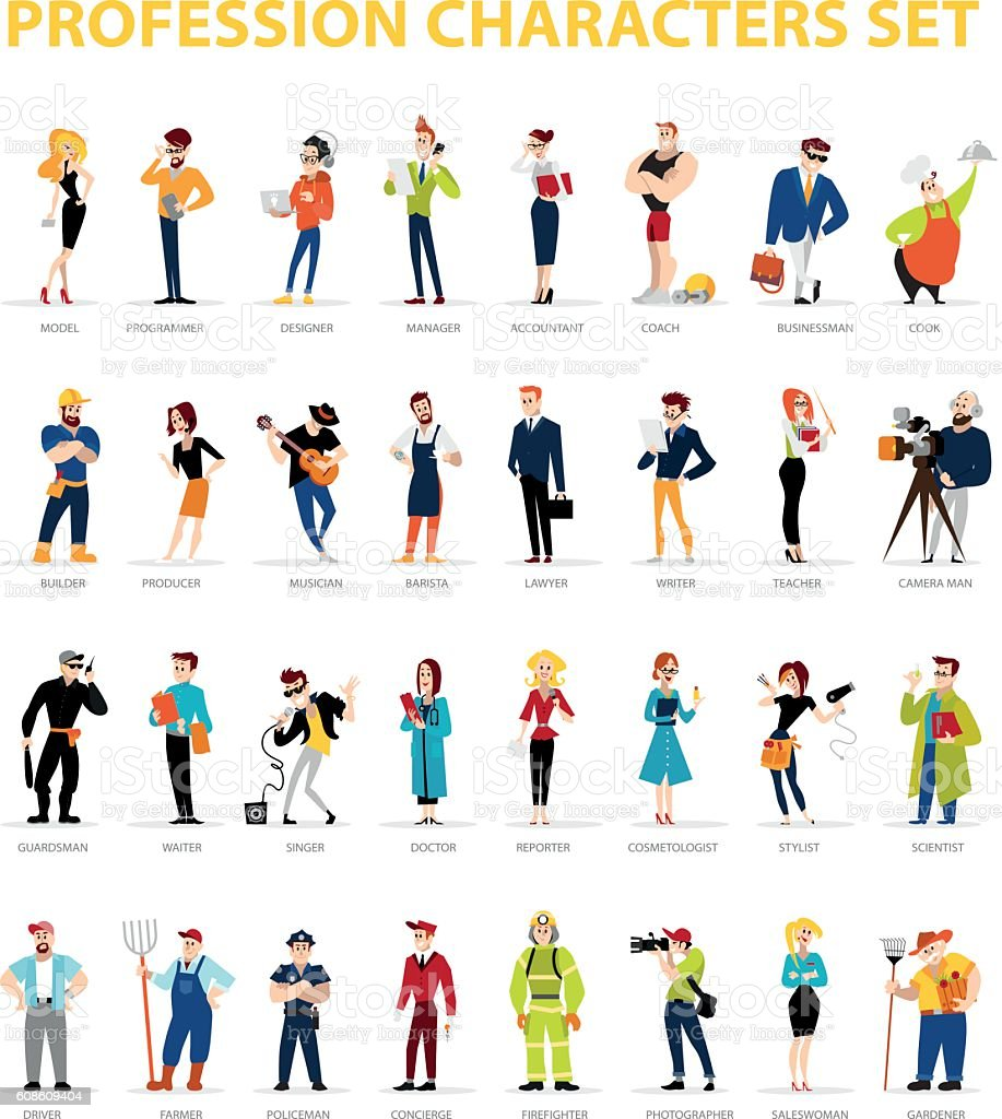 Vector flat people portraits collection isolated on white background. vector art illustration