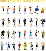 Vector flat people portraits collection isolated on white background.