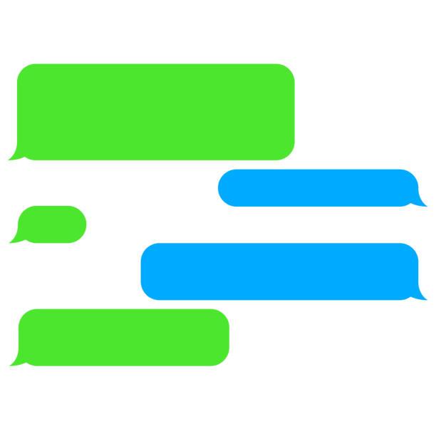 Vetor plana bolhas de bate-papo de telefone. Mensagens Sms. - ilustração de arte em vetor