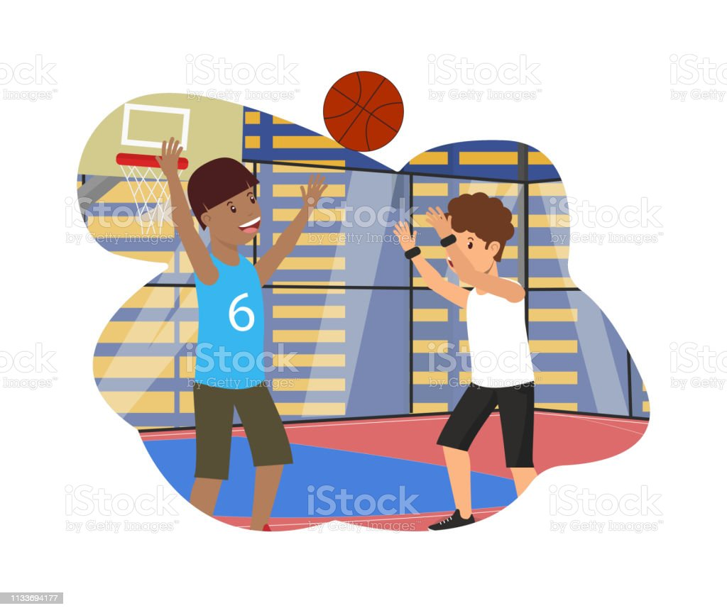 Kids Playing Basketball Clipart Images, Stock Photos & Vectors    Shutterstock