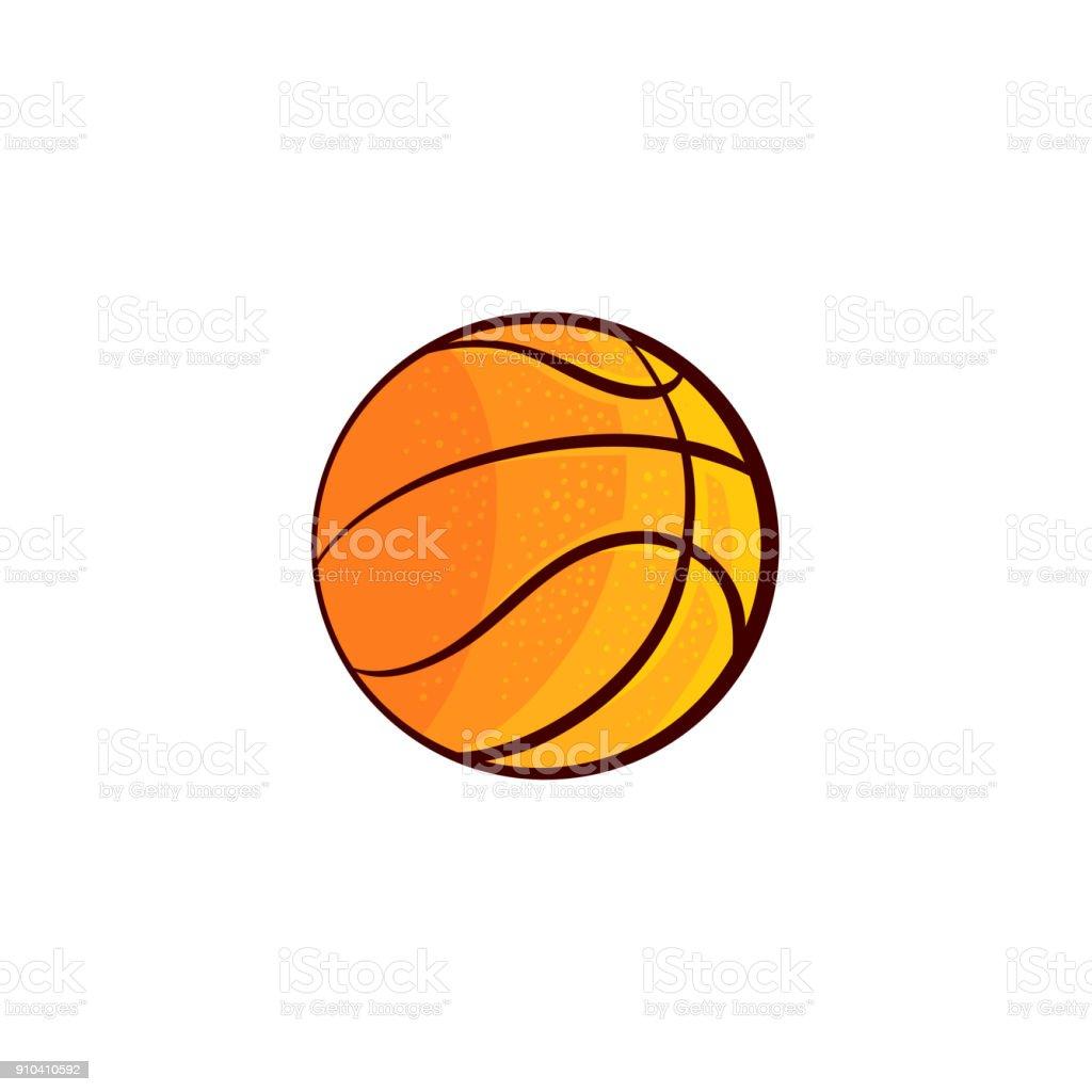 bola de basquete plana desenho vetorial isolada vetor e ilustração