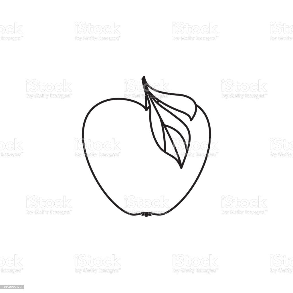 Ilustrao de vetor desenho liso preto e branco estilo contorno vetor desenho liso preto e branco estilo contorno apple ilustrao de vetor desenho liso preto e altavistaventures Choice Image
