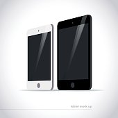 Vector flat smartphone isolated illustration.