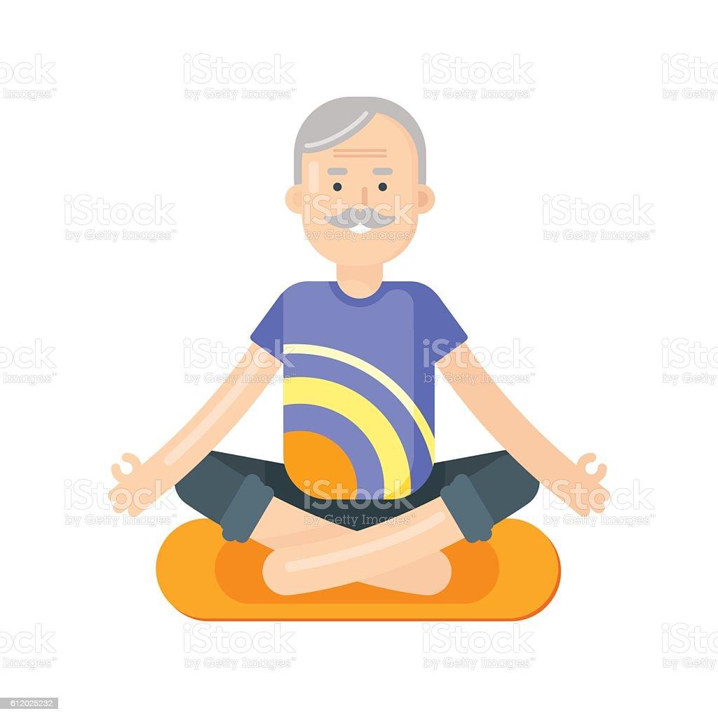 royalty free seniors yoga clip art vector images illustrations rh istockphoto com yoga clipart yoga clipart black and white