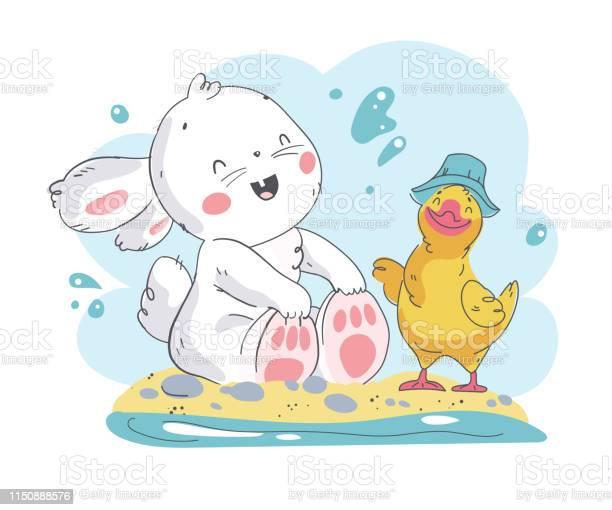 Vector flat summer illustration of cute white baby bunny character vector id1150888576?b=1&k=6&m=1150888576&s=612x612&h=alg5a93bcjb fitwuh8axobhobfwsqjijgmg33rsnaa=