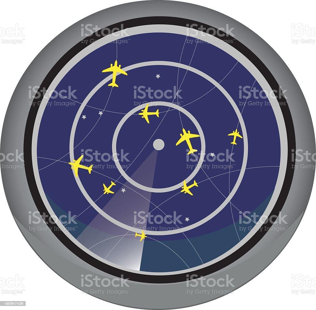Vector Flight Control Radar Showing Information About