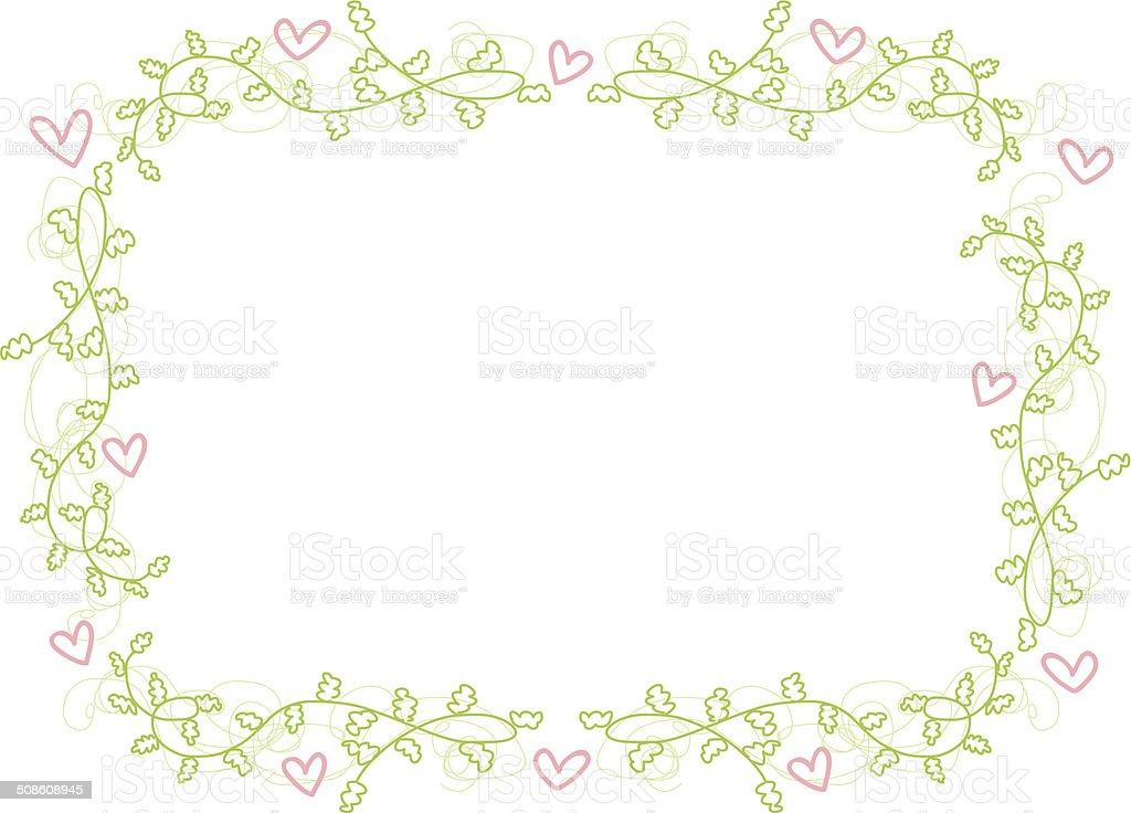 Cadre Bordure vector floral et coeur cadre bordure – cliparts vectoriels et plus d