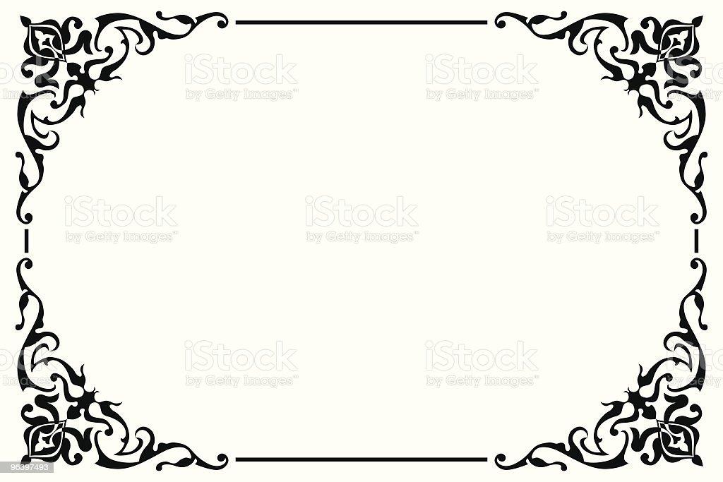 ベクトルのアラベスクボーダー - アラビア風のロイヤリティフリーベクトルアート
