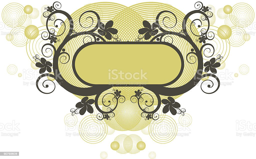 Vector Floral Background and frame royalty-free vector floral background and frame stock vector art & more images of abstract