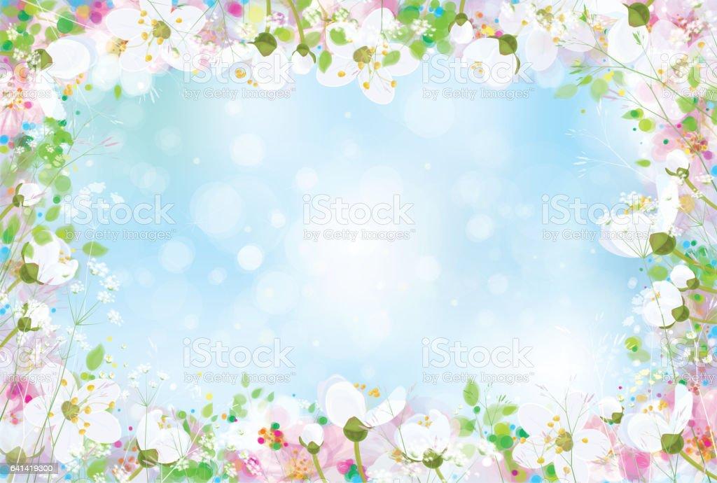 Vector  floral background. vector art illustration