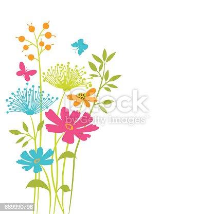 Vector floral background .