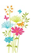 Vector floral background .