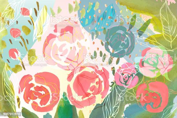 Vector floral background with hand drawn pastel colored flowers and vector id1087912810?b=1&k=6&m=1087912810&s=612x612&h=3c55y4ui5t93jalu3ombulpyyhwtivbc91pudiezziy=