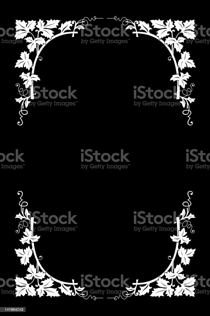 Vector floral border royalty-free stock vector art