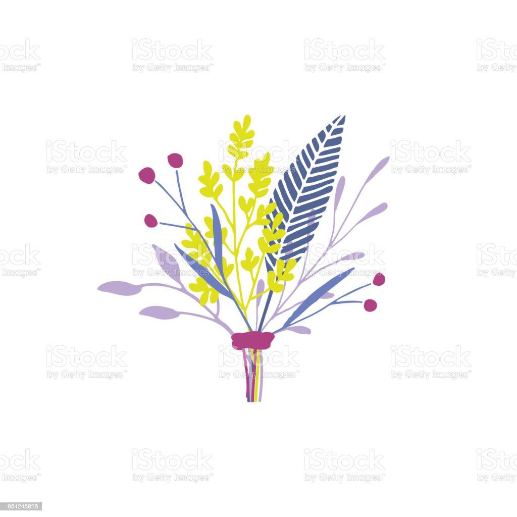 Vector floral bouquet. vector art illustration