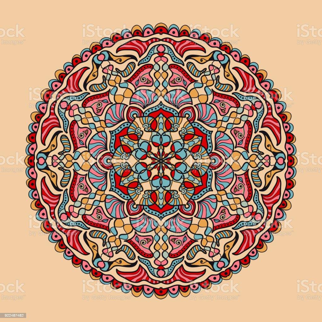Vektor Floral Bunt Mandala Schone Designelement Im Ethnostil Stock