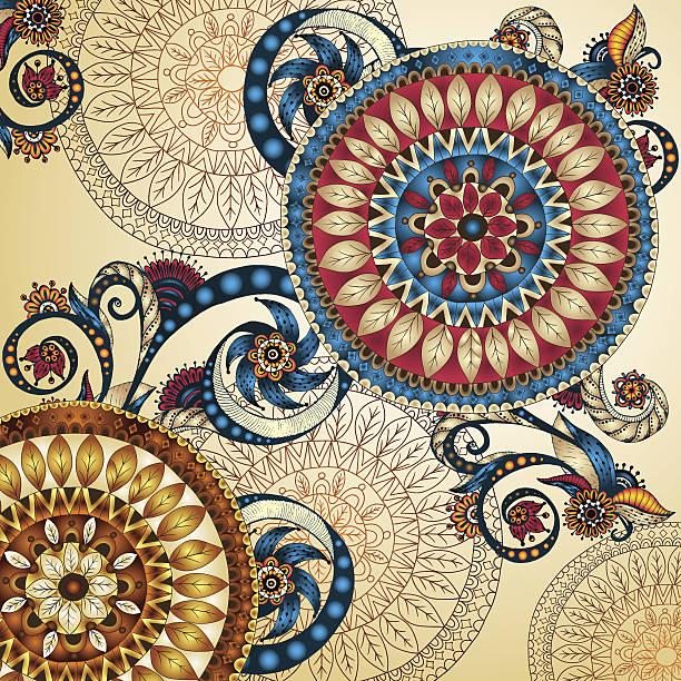 Vector floral decorative background. vector art illustration