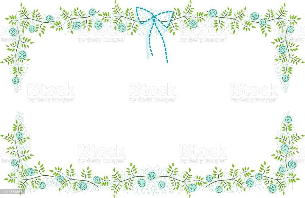 vector floral frame border in natural theme stock vector art more